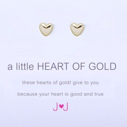 Joma Jewellery a little Heart of Gold Earrings
