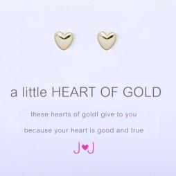 Joma Jewellery a little Heart of Gold Earrings