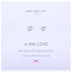Joma Jewellery a little Love Silver Heart Earrings
