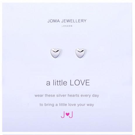 Joma Jewellery a little Love Silver Heart Earrings 601