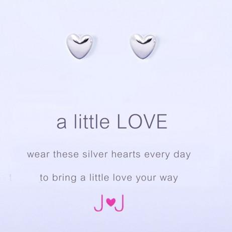 Joma Jewellery a little Love Silver Heart Earrings 601 *