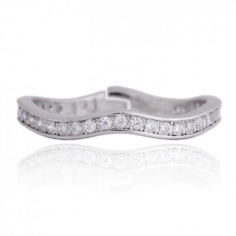 Joma Jewellery Silver Sofia Infinity Wavy Ring