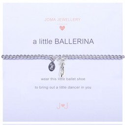 Joma Jewellery Girls a little Ballerina Ballet Shoe Silver Bracelet