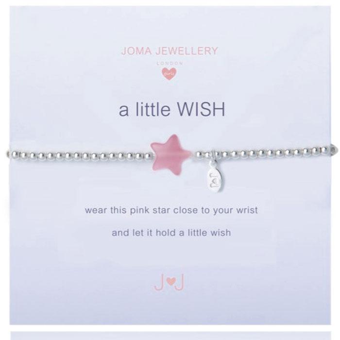 Joma Jewellery Girls A Little Wish Silver Bracelet