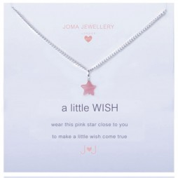 Joma Jewellery Girls a little Wish Silver Necklace C041