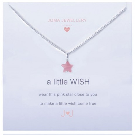 Joma Jewellery Girls a little Wish Silver Necklace