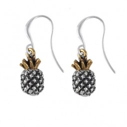 Hultquist Jewellery Tropical Gold and Silver Pineapple Earrings