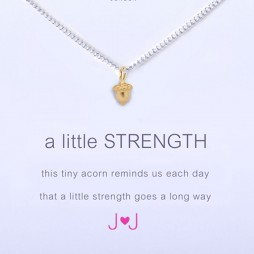 Joma Jewellery a little Strength Silver Necklace