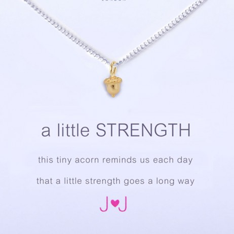 Joma Jewellery a little Strength Silver Necklace 1002 - EOL