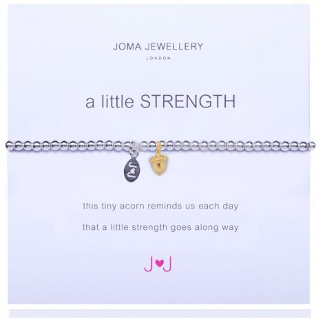 Joma Jewellery a little Strength Silver Bracelet 1003