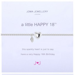 Joma Jewellery a little Happy 18th Silver Bracelet
