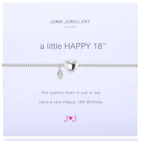 Joma Jewellery a little Happy 18th Silver Bracelet 1086