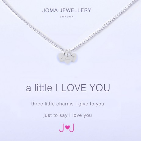 Joma Jewellery a little I Love You Silver Necklace 1154 - EOL