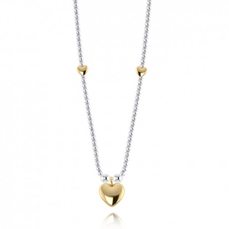 Joma Jewellery Gold and Silver Hollie Heart Necklace 1199