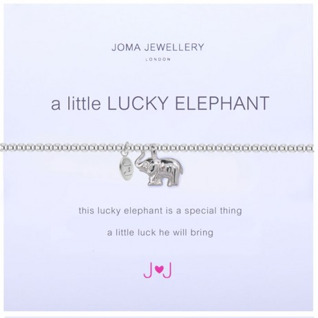 Joma Jewellery a little Lucky Elephant silver Bracelet