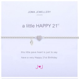 Joma Jewellery a little Happy 21st Silver Pave Heart Bracelet 1220