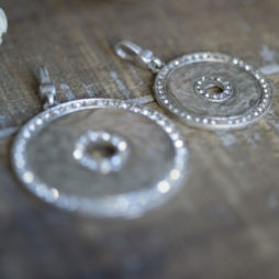 Tutti and Co Silver Crystals Disc Charm
