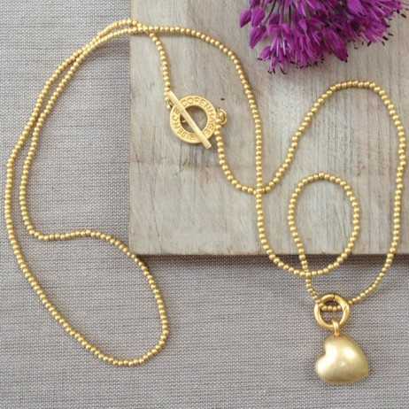 Sence Copenhagen Gold Plated Solid Heart Charm