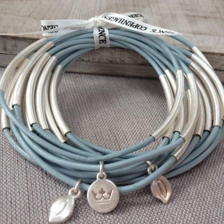 Sence Copenhagen Urban Gipsy Bracelet Sky Blue with Silver