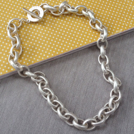 Sence Copenhagen Essentials Chunky Silver Plated Links Necklace