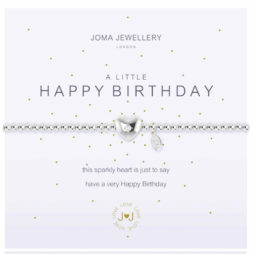 Joma Jewellery a little Happy Birthday Silver Bracelet