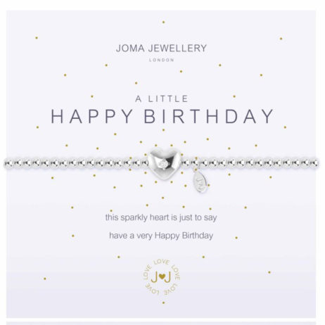 Joma Jewellery a little Happy Birthday Silver Bracelet 1093