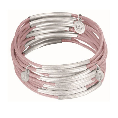 Sence Copenhagen Urban Gipsy Bracelet Soft Rose with Silver