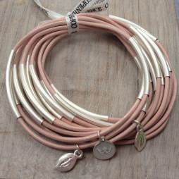 Sence Copenhagen Urban Gipsy Bracelet Soft Rose with Silver