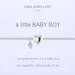 Joma Jewellery a little Baby Boy Silver Bracelet 1088