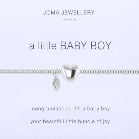 Joma Jewellery a little Baby Boy Silver Bracelet
