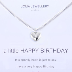 Joma Jewellery a little Happy Birthday Silver Necklace 1092