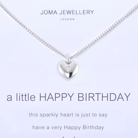 Joma Jewellery a little Happy Birthday Silver Necklace