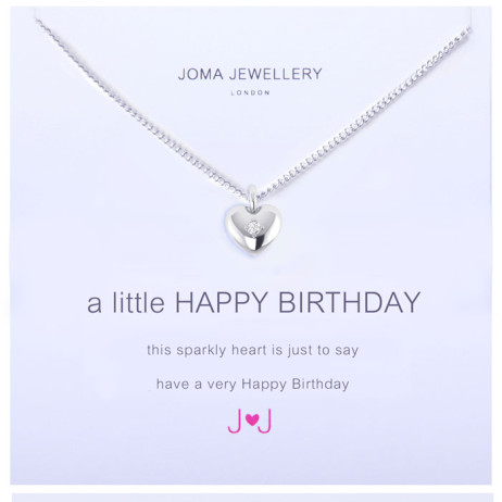 Joma Jewellery a little Happy Birthday Silver Necklace 1092 EOL