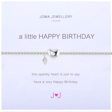 Joma Jewellery a little Happy Birthday Silver Bracelet