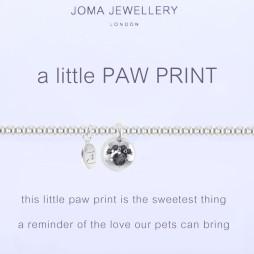 Joma Jewellery a little Paw Print Silver Bracelet 1094