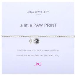 Joma Jewellery a little Paw Print Silver Bracelet