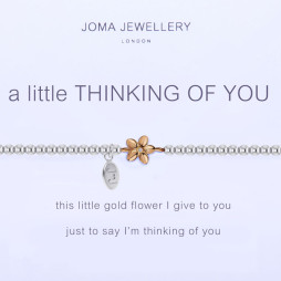 Joma Jewellery a little Thinking of You Silver and Gold Bracelet 1102