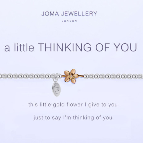 Joma Jewellery a little Thinking of You Silver and Gold Bracelet