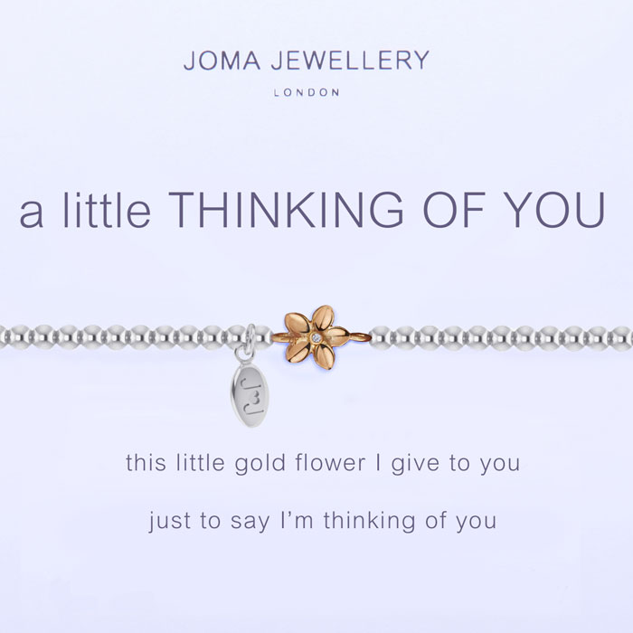 Joma Jewellery A Little Thinking Of You Silver And Gold
