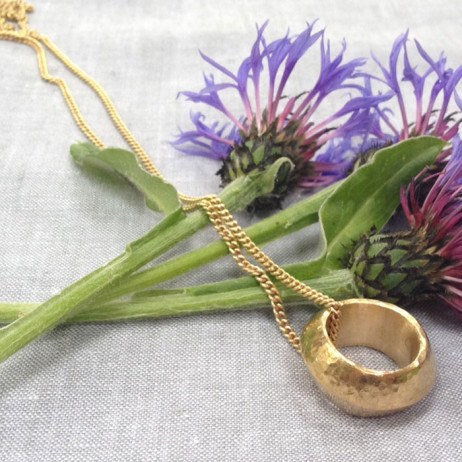 Tribe & Fable Ethiopian Promise Ring Necklace