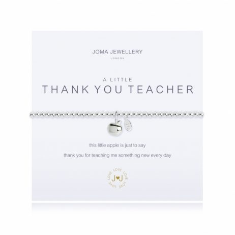 Joma Jewellery a little Thank You Teacher Silver Bracelet 2212