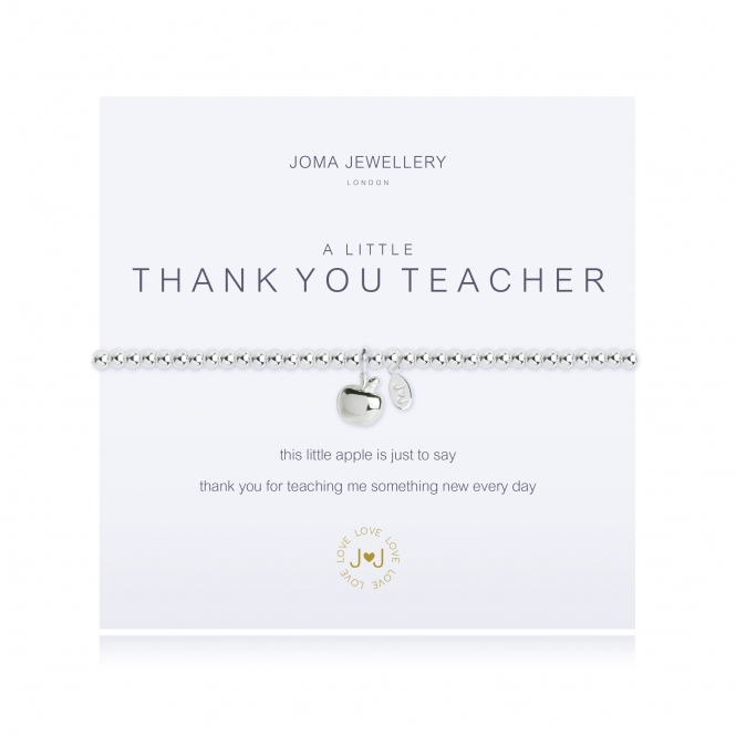Joma Jewellery A Little Thank You Teacher Silver Bracelet