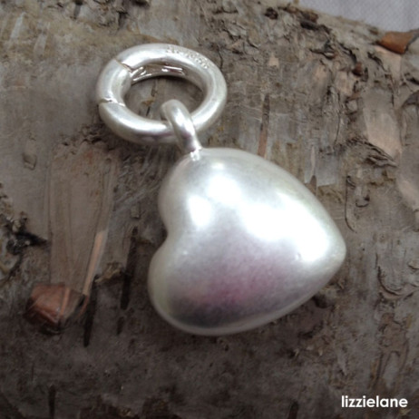 Sence Copenhagen Silver Plated Solid Heart Charm