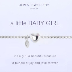 Joma Jewellery a little Baby Girl Silver Bracelet 1087