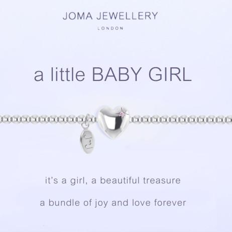 Joma Jewellery a little Baby Girl Silver Bracelet 1087