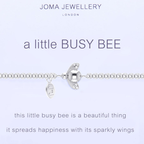 Joma Jewellery a little Busy Bee Silver Bracelet