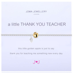 Joma Jewellery a little Thank You Teacher Silver and Gold Bracelet