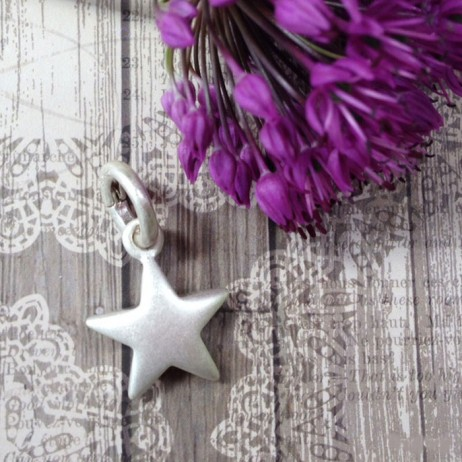 Sence Copenhagen Silver Plated Solid Star Charm Pendant