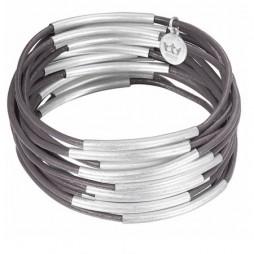 Sence Copenhagen Urban Gipsy Bracelet Grey with Silver