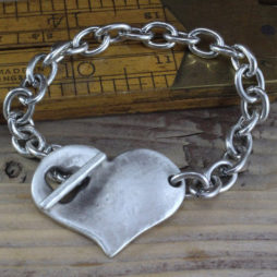 Danon Jewellery Silver Bracelet with Round Heart